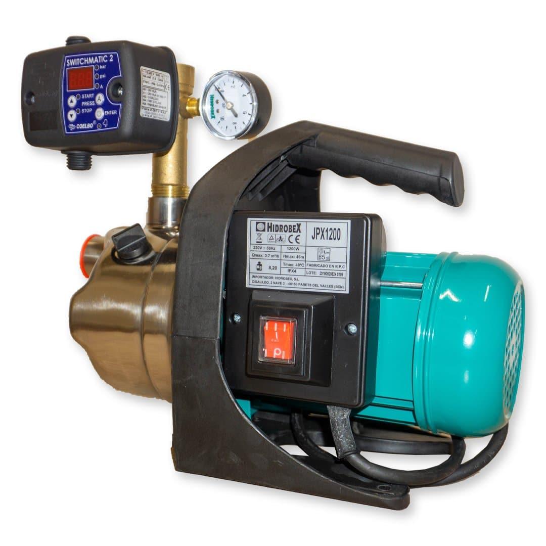 Conjunto pressão JET inox 1.6HP JPX-1200 Switchmatic 2
