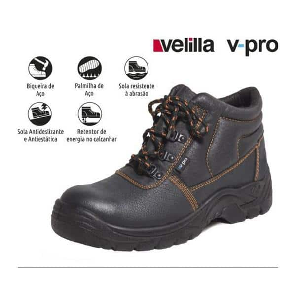 Bota de Proteção Velilla V-Pro S1P SRC - 36