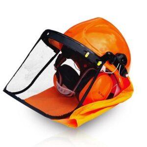 Capacete com escudo facial e auricular HCT