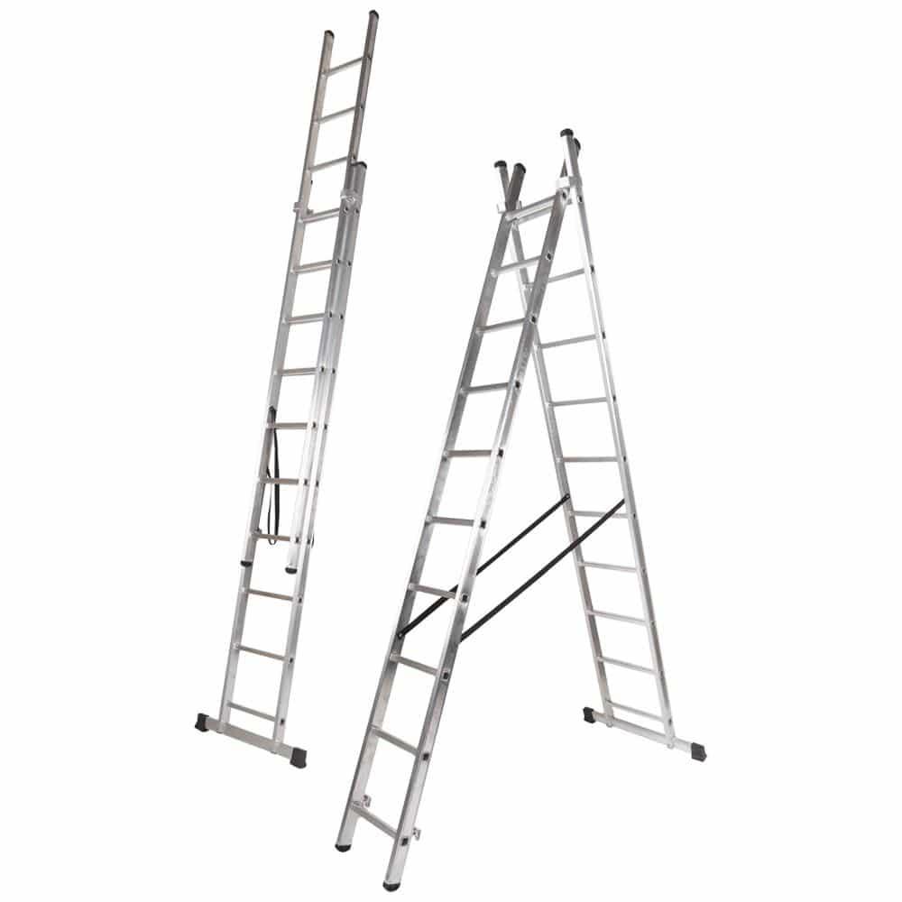 Escada ELITE Dupla de Alumínio FERRAL - Degrau Quadrado