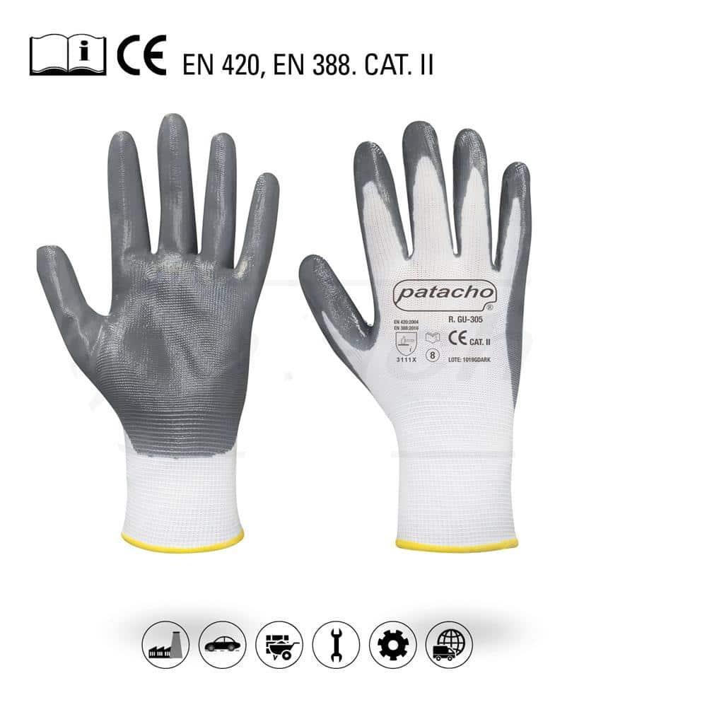 Luvas de Poliéster Branco Patacho - T10