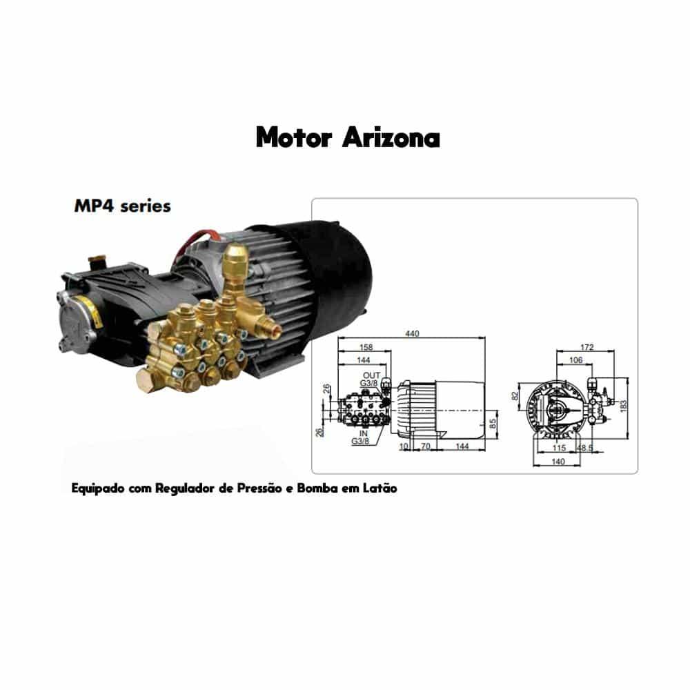 Lavadora de Alta Pressão Lavor PRO Arizona 1311LP 150Bar