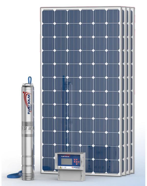 Kit Pedrollo Fluid Solar 1/10 - 79mts - 2300 l/h