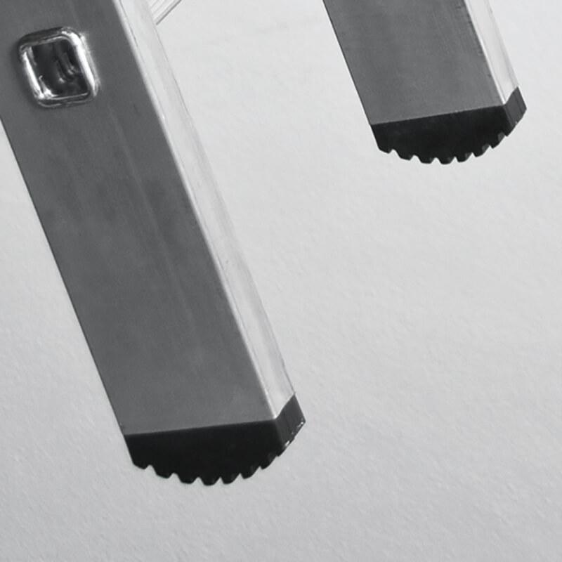 Escada Simples de Alumínio FERRAL 3m / 5m - Degrau Redondo
