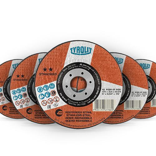 Disco de Corte de Aço inox Tyrolit 178 X 2,5 X 22,23