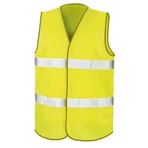 Colete Refletor Alta Visibilidade 2 Faixas Amarelo