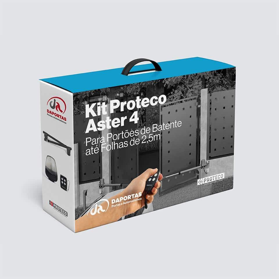 Kit Automatismo para Portões de Batente Proteco Aster 4