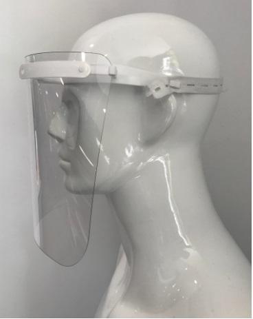 Viseira policarbonato proteção individual certificada Covid-19